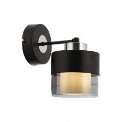 AVONNI AP-60193-1BSY Siyah Boyalı Aplik, E27, Metal, Cam, 14cm