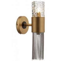 AVONNI AP-60236-2BSA Sarı Boyalı Aplik, G9, Metal, Cam, Zincir, 15cm