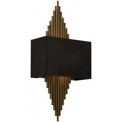 AVONNI AP-62175-01 Siyah Boyalı Aplik, E27, Metal, 25x13cm