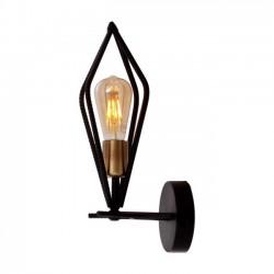 AVONNI AP-65059-1E Eskitme/Siyah Kaplama Aplik E27 Metal 8x15cm