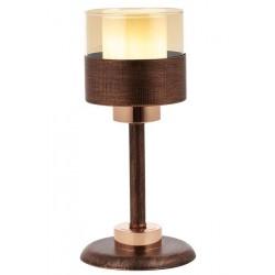 AVONNI ML-60193-1CPR Bakır Boyalı Masa Lambası, E27, Metal, Cam, 16cm