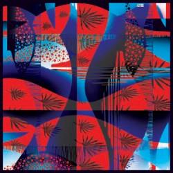 Lacivert Turuncu Tonları Modern Karışık Desenli Eşarp