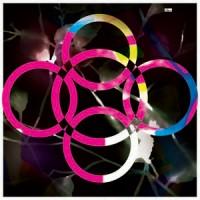 Pembe Siyah Tonları Modern Olimpik Halka Desenli Eşarp