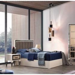 Beykoz Antrasit Yatak Odası Takımı Karyola MOD-BYK-AYO