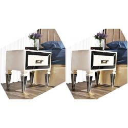 Beykoz Ekru Yatak Odası Takımı Komidin MOD-BYK-EYO