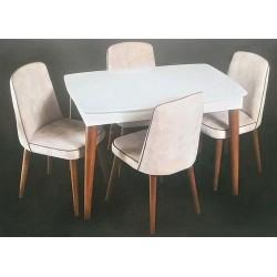 Retro Masa 6'lı Sandalye Takımı MOD-OA-A1