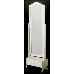 Beyaz Çekmeceli Boy Aynası MOD-OA-A104