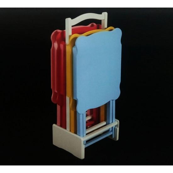 Kare Renkli Çanta Zigon 4'lü Sehpa Takımı MOD-OA-A166