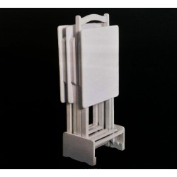 Beyaz Kare Çanta Zigon 4'lü Sehpa Takımı MOD-OA-A173